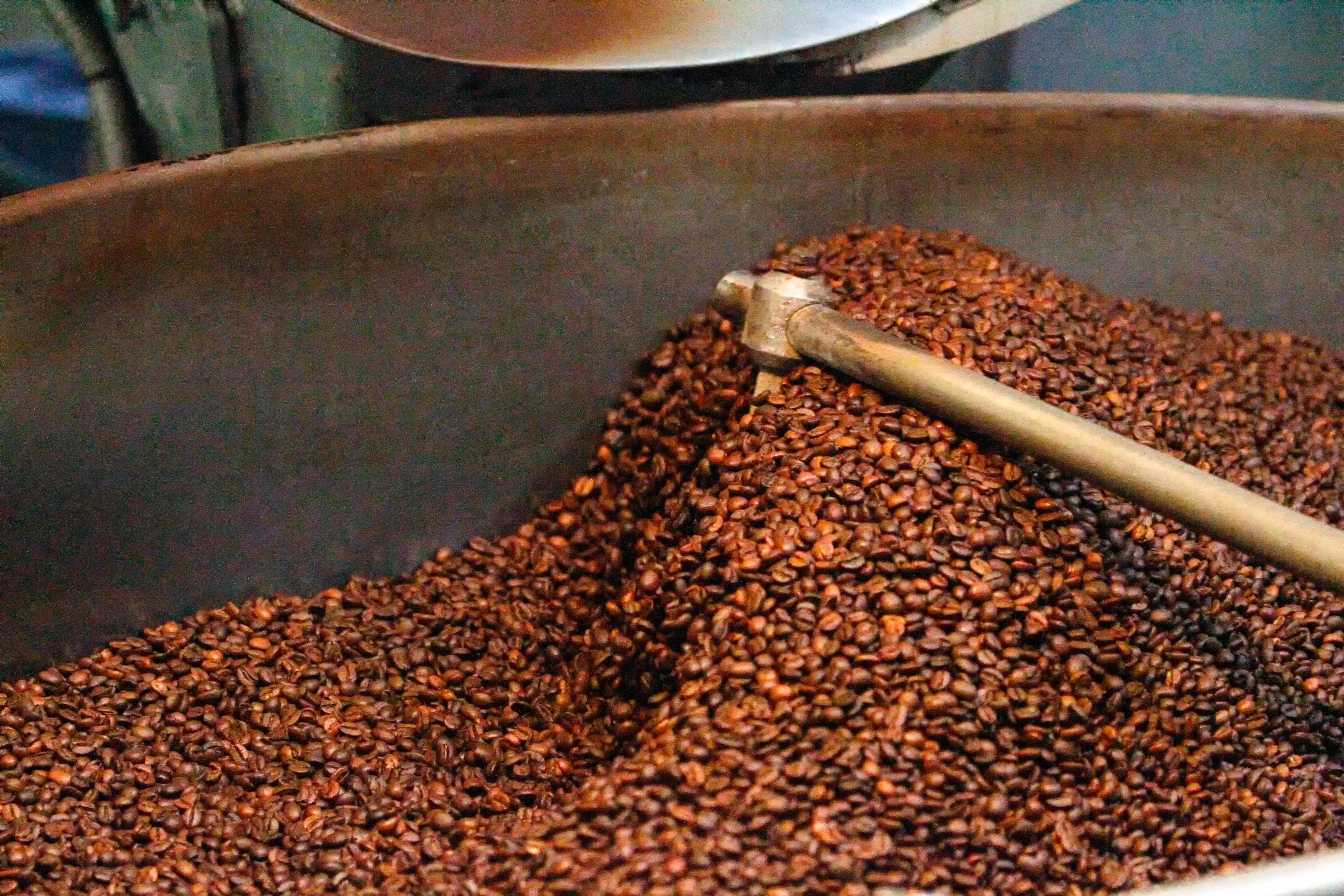 Enfriando el café tostado